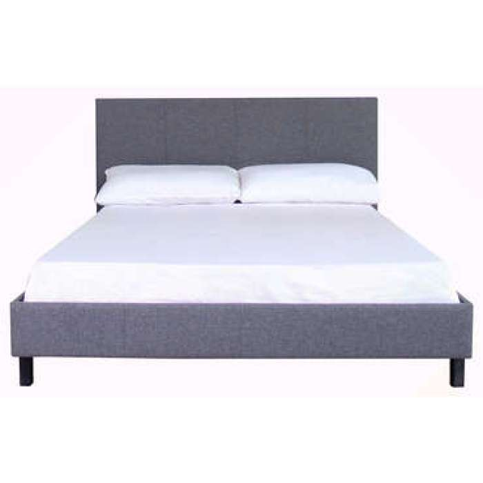 Lit adulte 140x190 cm BIAB coloris gris