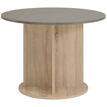 table ronde 100 cm demon coloris chene