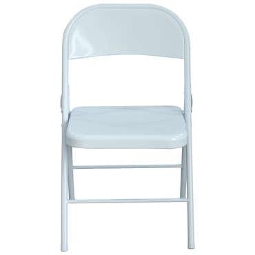 chaise pliante rose coloris blanc