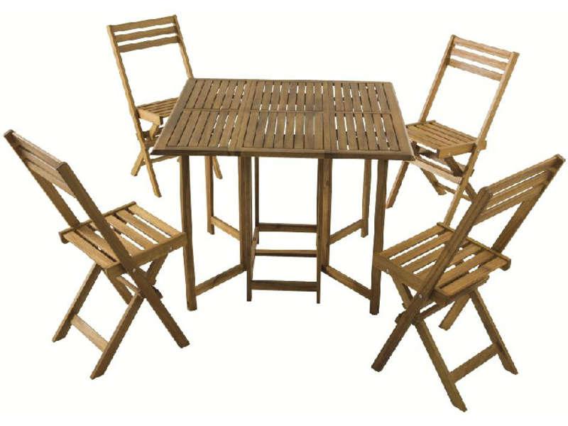ensemble table 4 chaises de jardin en