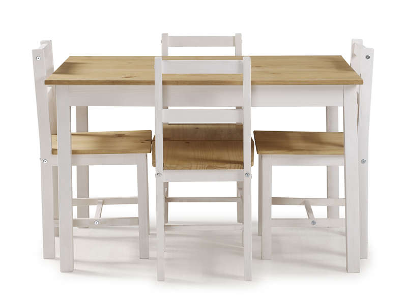 ensemble table 4 chaises de cuisine en pin massif