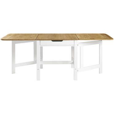 table 91 cm pliante jenny coloris blanc