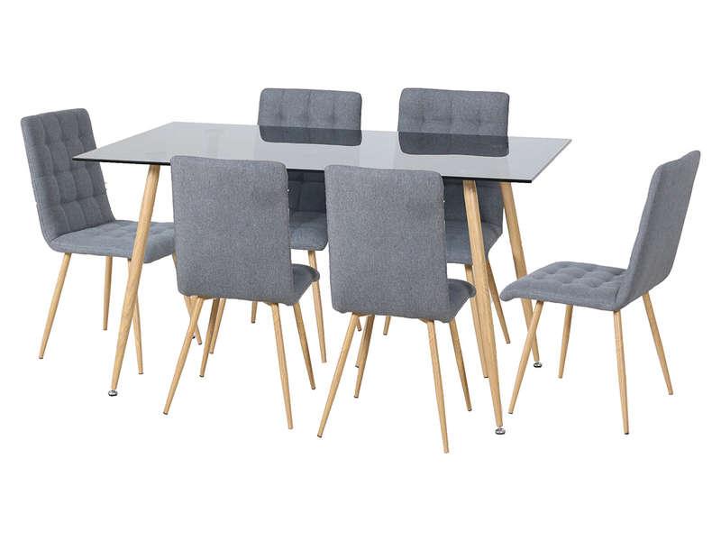 ensemble table et 6 chaises