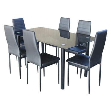 ensemble table rectangulaire et 6 chaises 709512
