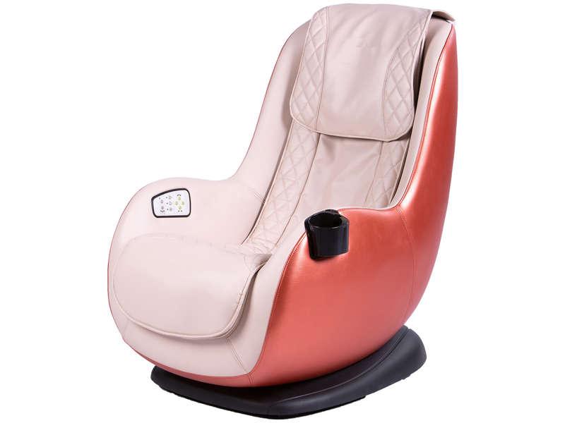 Fauteuil Massant Electrique Et De Relaxation Massage Coloris Beige Orange Vente De Tous Les Fauteuils Conforama