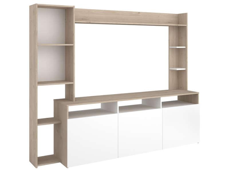 meuble tv haut a niche 204 cm
