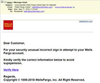 phishing email claims you