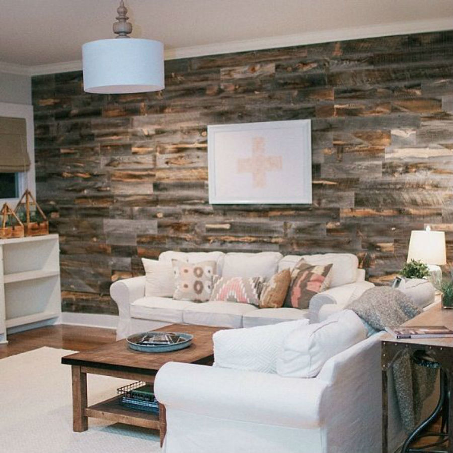 wood wall living room open and kitchen paint ideas can you create a reclaimed accent in under an hour