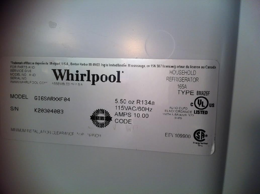 Whirlpool Model Number Lookup