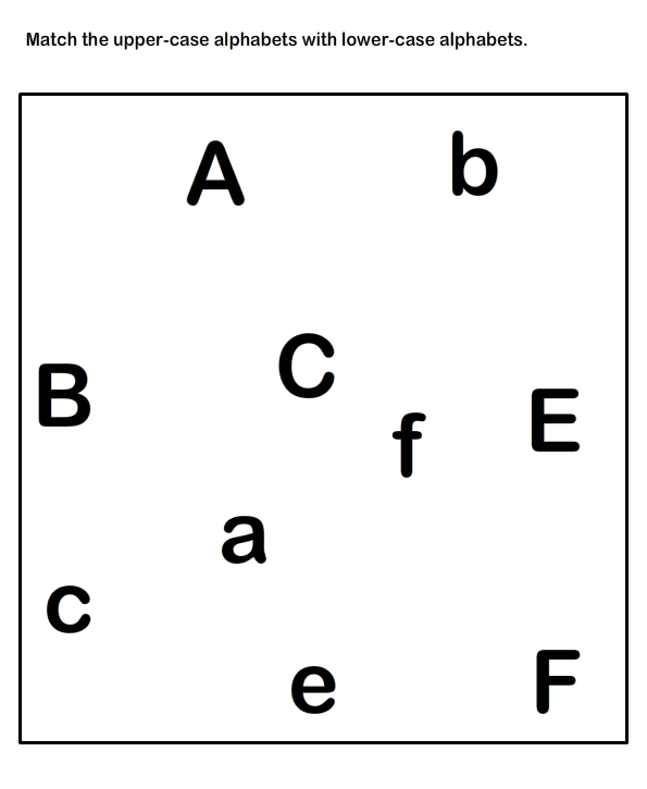 Match Uppercase and Lowercase Letters , Kindergarten
