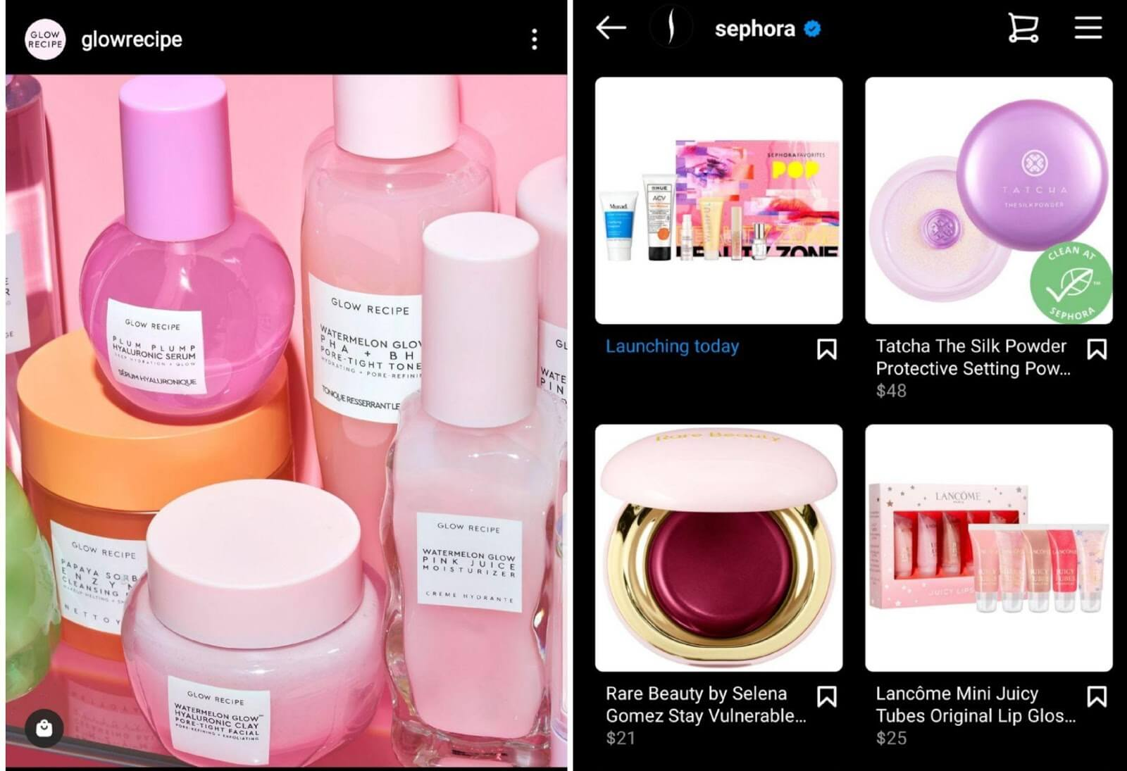 Instagram shopping examples