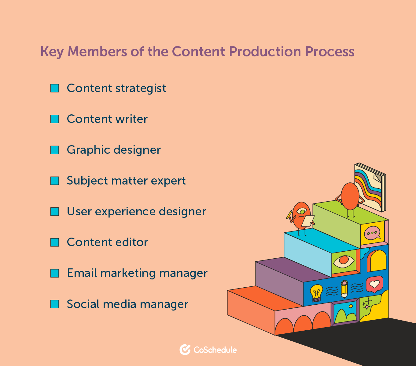 Key members of the content production process