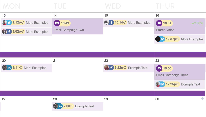 CoSchedule publishing schedule