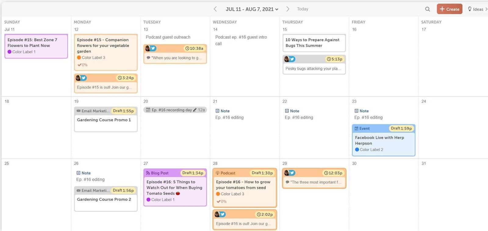 CoSchedule marketing calendar planning