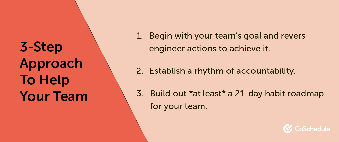 3 step approach to help your team