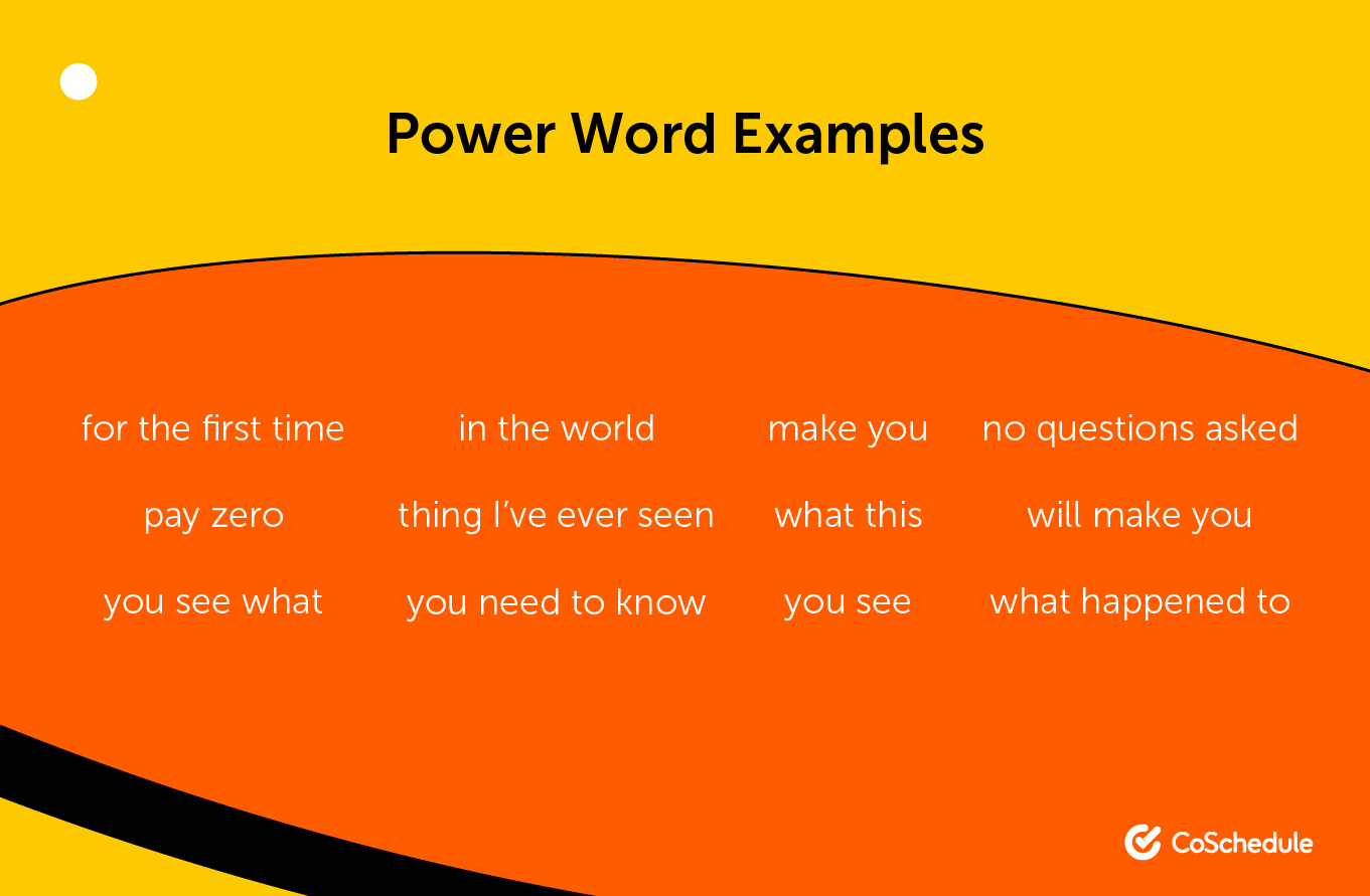 Power word examples