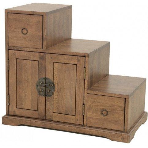 meuble escalier style asiatique 2 tiroirs 4 portes bois massif beijing