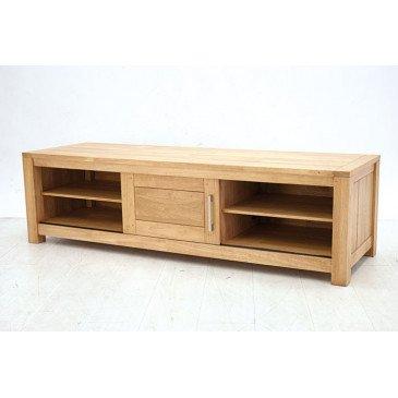meuble tv style contemporain 1 porte bois massif tribeca