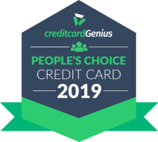 People's choice credit card in Canada for 2019 award seal