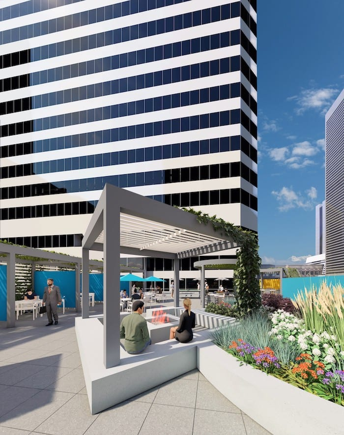 rooftop construction begins at 1001