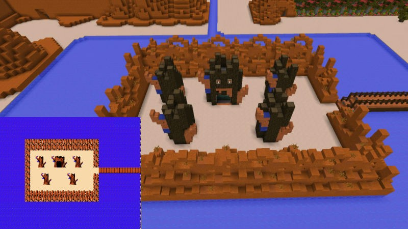 Mincraft zelda level 1