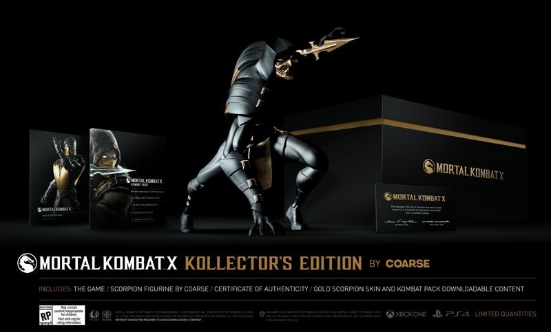Mortal Kombat X Kollector's Editions execute a fatality on your