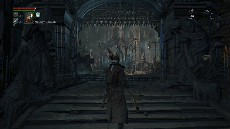 Bloodborne open gate to Vicar Amelia