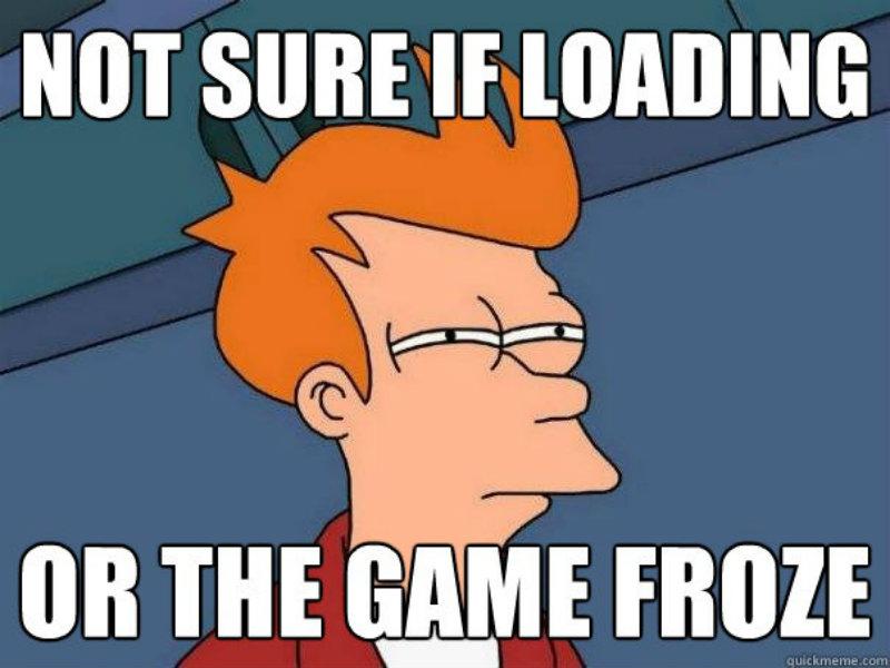 Loading or frozen