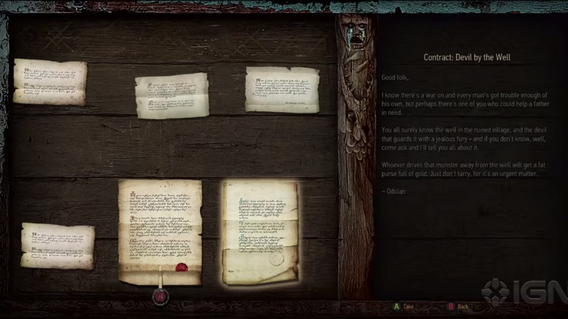 Witcher 3 contracts
