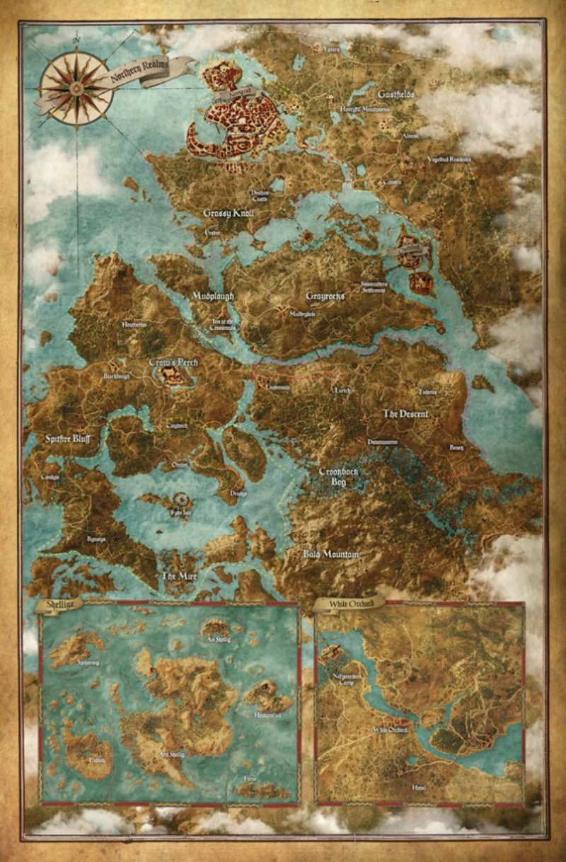 Witcher 3 world map