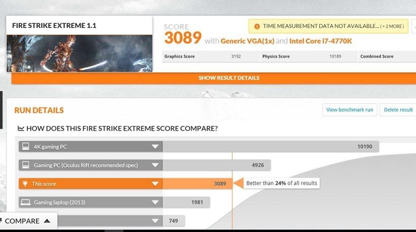 FireStrike Extreme 950