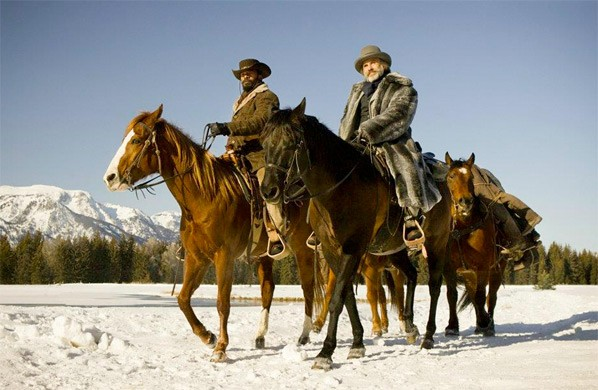 Time to start riding, shooting, drinking and glaring in these new images from DJANGO UNCHAINED 3