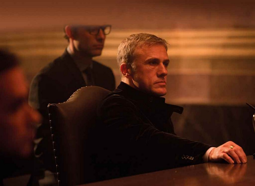 Christoph Waltz was spotted on the set of Bond 25