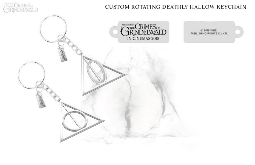 FantasticBeasts2_Deathly Hallows Keychain