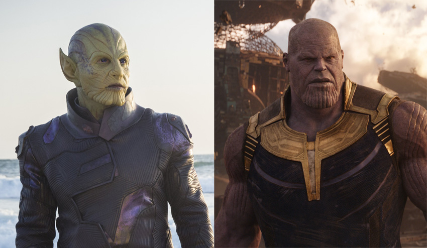 No, Captain Marvel's Skrulls and Thanos are not related… well, kinda