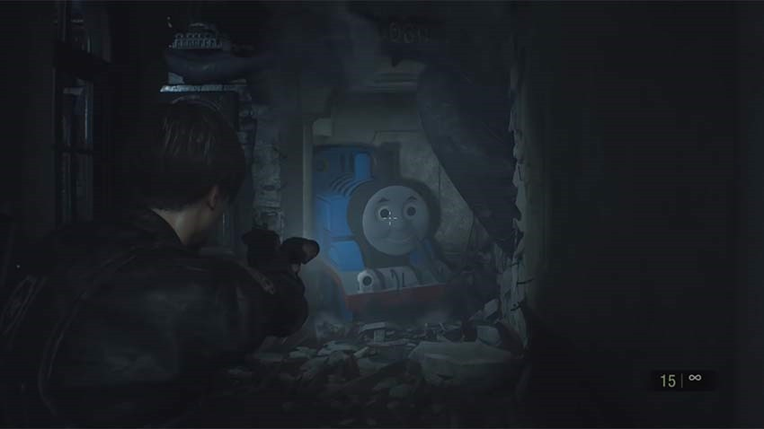 New Resident Evil 2 Mod Replaces Mr X With Thomas The Tank Engine