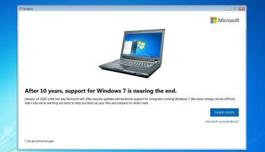 Microsoft is starting to notify users that Windows 7 support is coming to an end 22