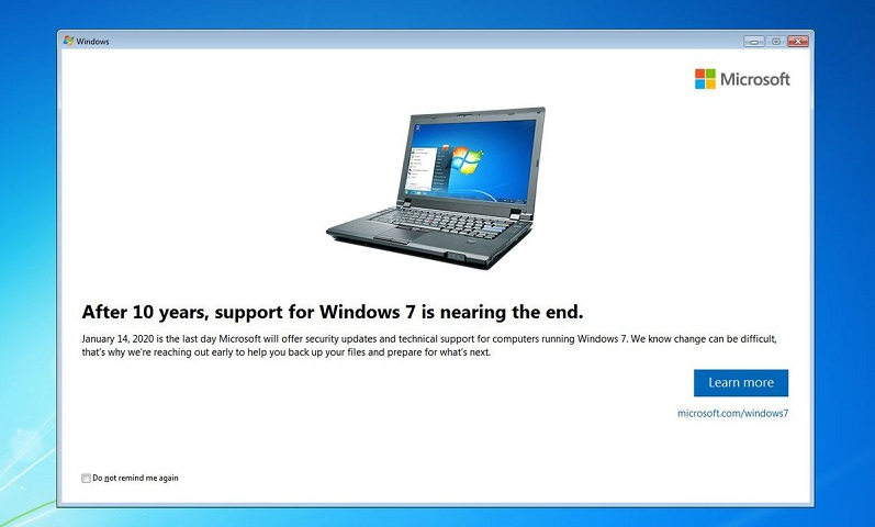 Microsoft is starting to notify users that Windows 7 support is coming to an end 7