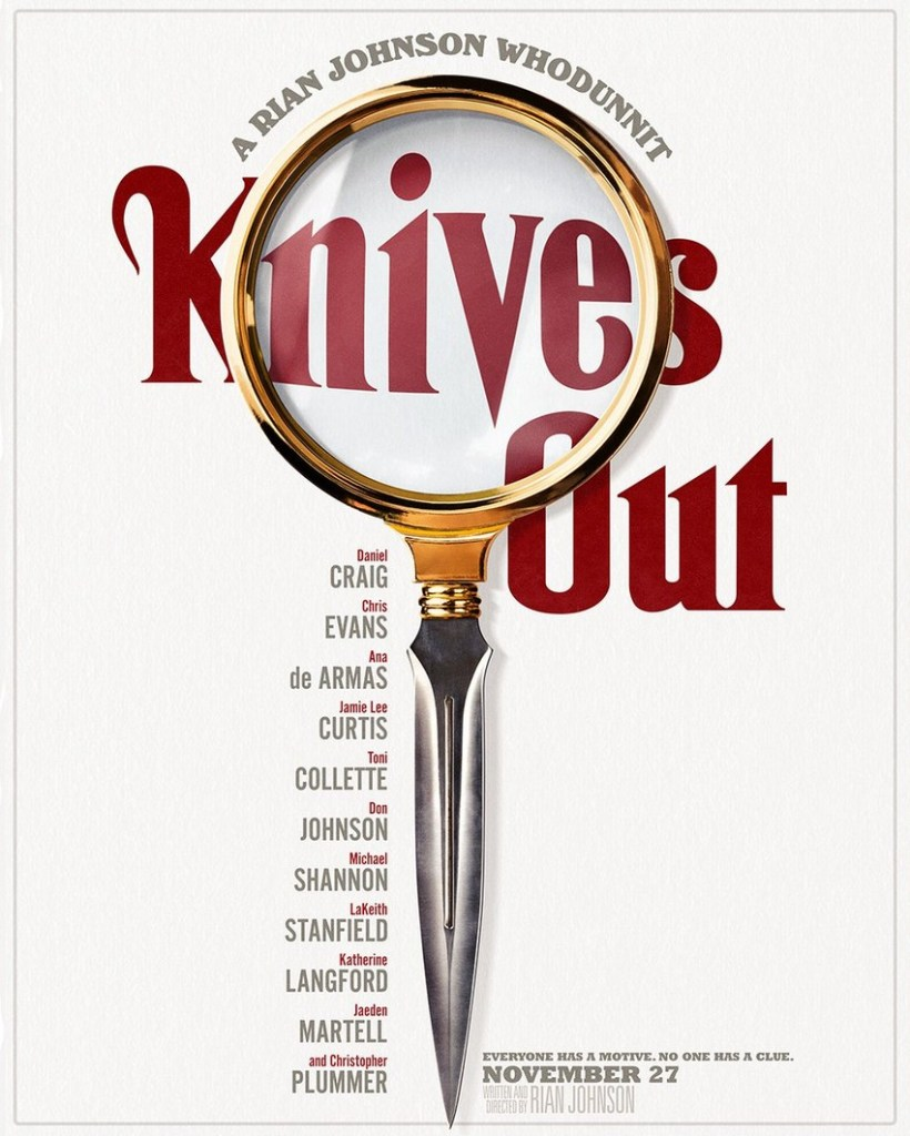 The first trailer for Rian Johnson's Knives Out shows off his star-studded whodunnit 4