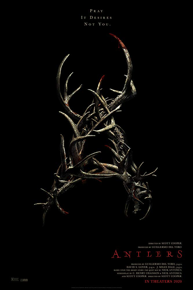 A young boy hides a deadly secret in the Guillermo del Toro-produced horror movie Antlers 4