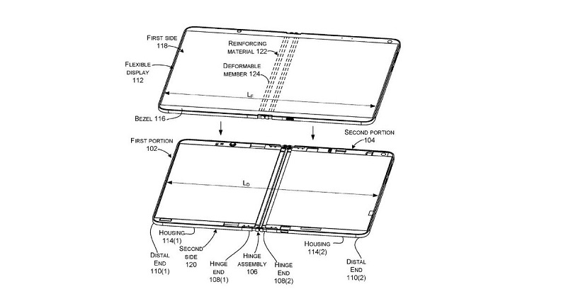 Microsoft patent reveals a possible foldable Surface device 3