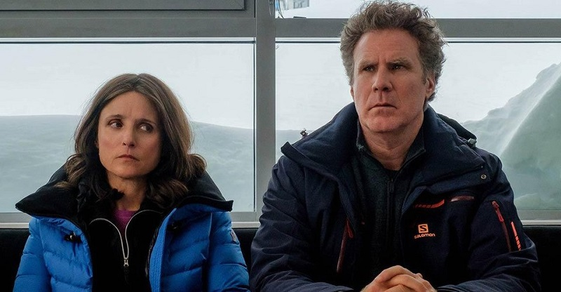 Watch Julia Louis-Dreyfus & Will Ferrell deal with  marriage disaster in this trailer for Downhill 2
