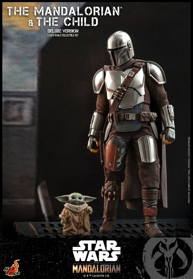 Hot Toys The Mandalorian has shiny armour, more firepower and Baby Yoda 24
