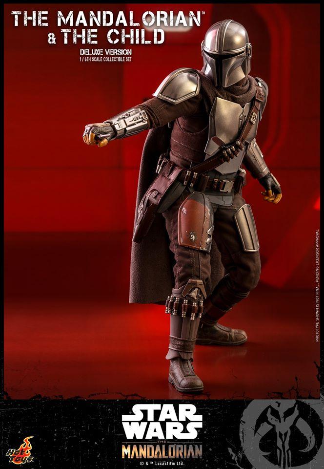 Hot Toys The Mandalorian has shiny armour, more firepower and Baby Yoda 29
