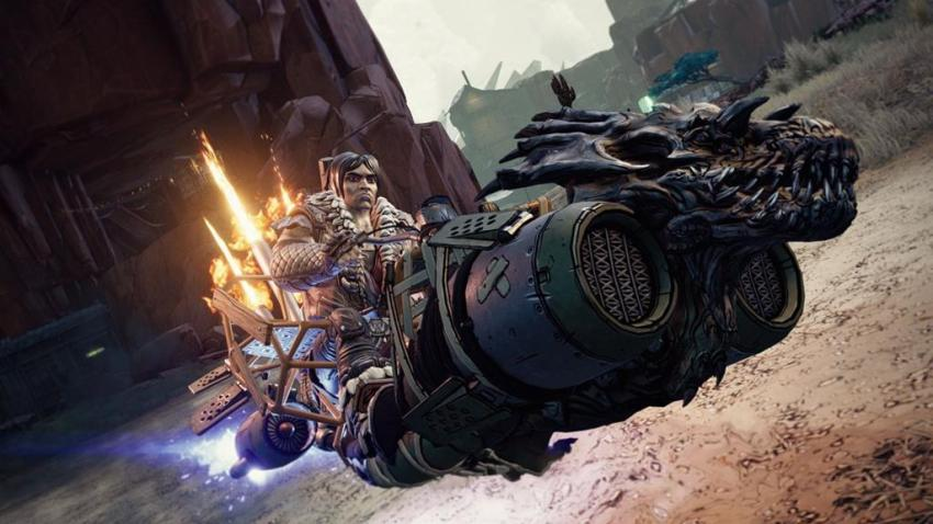 You can ride a badass Velociraptor with guns in the third Borderlands 3 expansion, Bounty of Blood 12