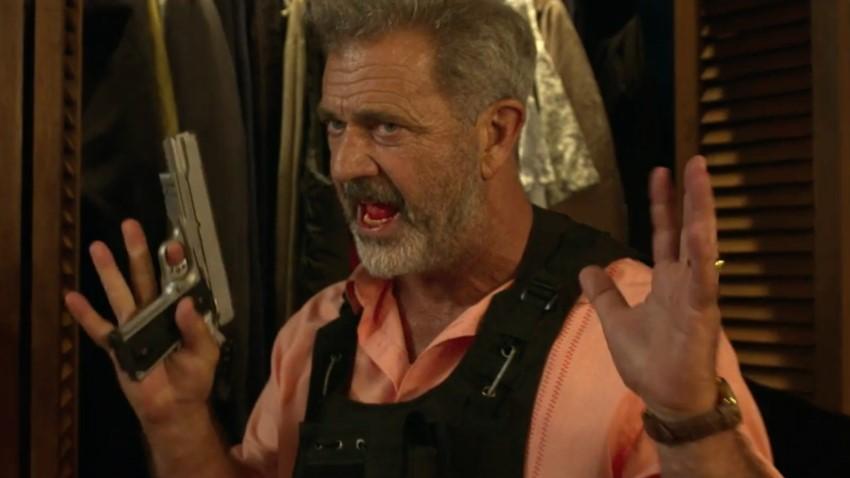 Mel Gibson fights thieves and a hurricane in the action thriller Force of Nature 3