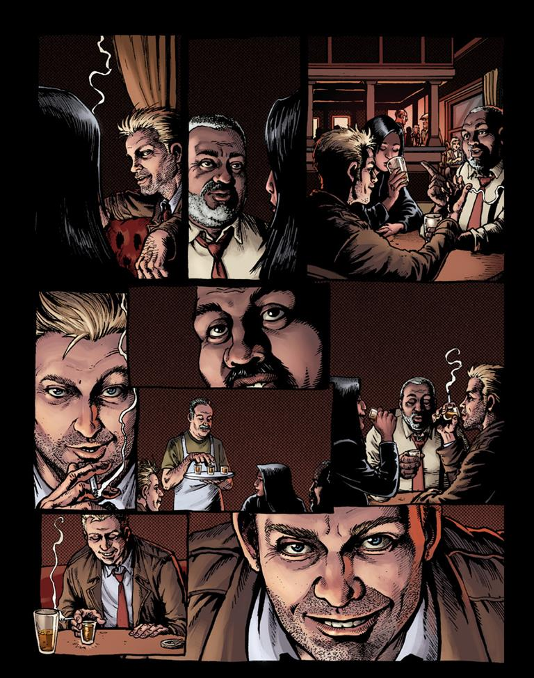 John Constantine is taking on the rich and the powerful in Hellblazer: Rise and Fall 8