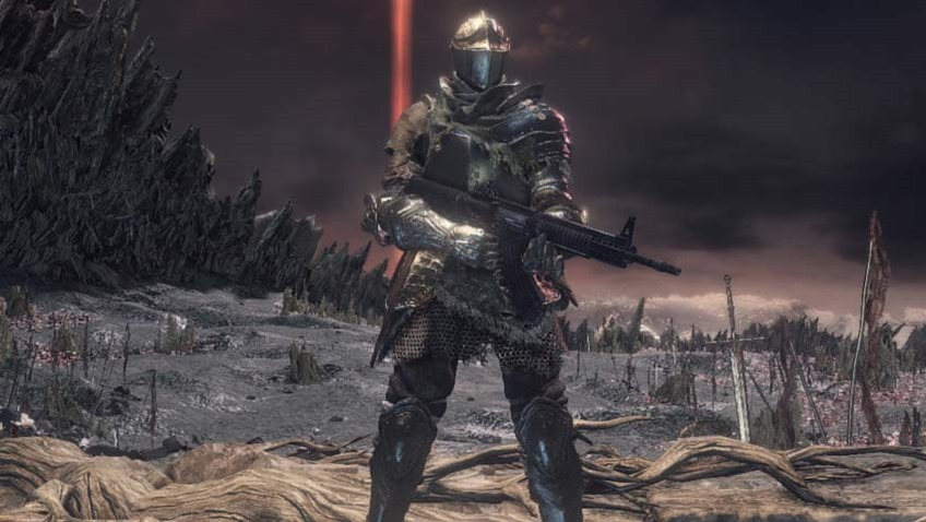 Dark Souls 3 looks a lot more fun when you add automatic assault rifles to it 3