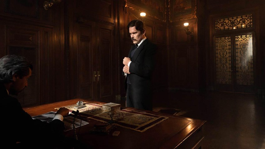 Ethan Hawke lights up the world in the biographical drama Tesla 2
