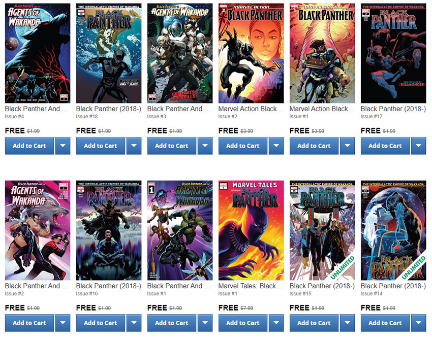 You can grab over 200 Black Panther comics for free on Comixology right now 4